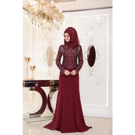 89230c33a35e8 Pınar Şems Elbise 2019 Tesettür Elbise & Tunik Modelleri - n11.com
