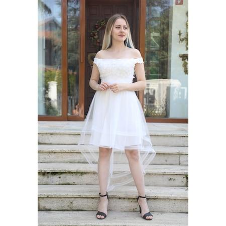 b87b79a497aea Pelerinli 2019 Abiye & Gece Elbise Modelleri - n11.com
