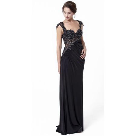 eb8e5ac5c3086 Siyah Renk Üstü Payet Etek Tül Uzun Abiye Elbise - n11.com