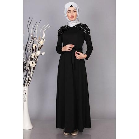 93becdee69811 Tesettür Elbise Modelleri İnci Omzu Detaylı - n11.com