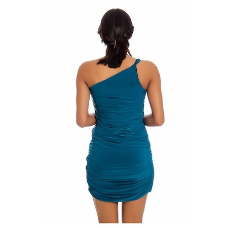 2efbdec0bf612 Yeşil Tek Kol Taşlı Abiye Elbise G2-125601 - n11.com