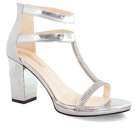 79eab56c5d733 Clavi 54 Taşlı Kadın Abiye Ayakkabı Gumus - n11.com