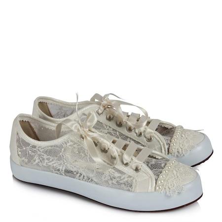 1ae2eae849 Gelinlik Ayakkabı Vans Model Cici Dantel - n11.com