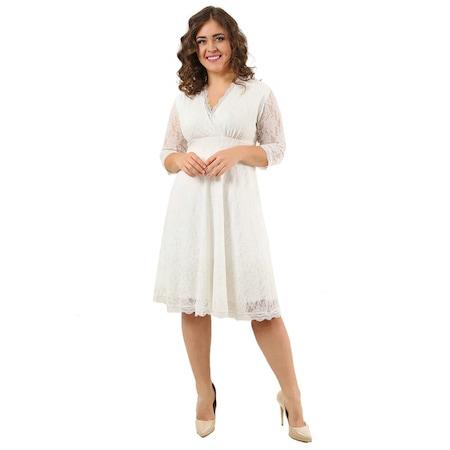 da5873e9d5a1f Dantelli Elbise Bayan Büyük Beden Giyim - n11.com