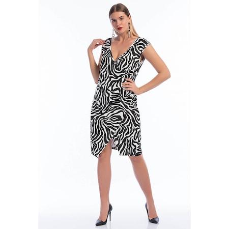 3af259750415d Büyük Beden Zebra Kısa Likralı Elbise Pnr10 - n11.com