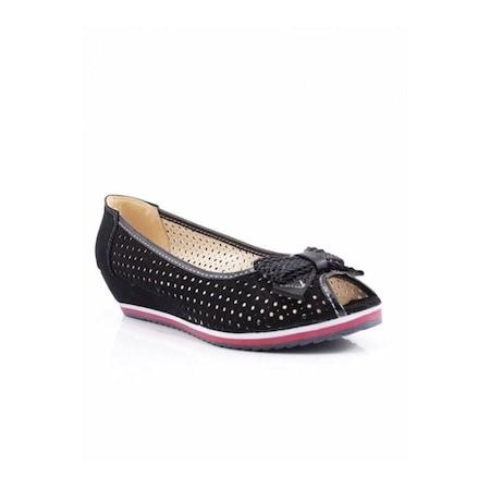 Swell Soft Siyah Dolgu Bayan Ayakkabı