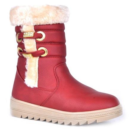 Twingo 885 Termal Kürklü Fermuarlı Kız Çocuk Kışlık Bot Ayakkabı