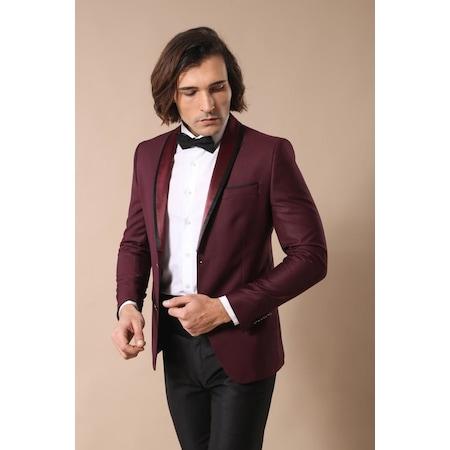 c4b7e3a605b83 Çıkmal Şal Yaka Bordo Damatlık Takım Elbise | Wessi - n11.com