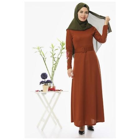 aeccc77839f08 Uzun Elbise 2019 Tesettür Elbise & Tulum Modelleri - n11.com - 2/5