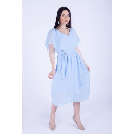 899bc58bf303b Saks Mavisi Elbiseler 2019 Elbise Modelleri & Fiyatları - n11.com - 15/22