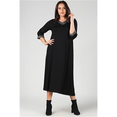 411501b4e643b Simli Elbise Bayan Büyük Beden Giyim - n11.com