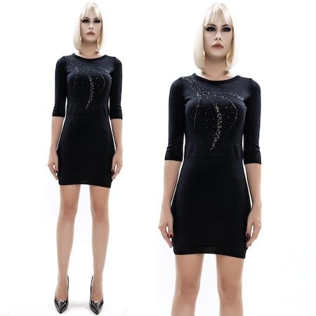 6f248c0299603 8096 Dodona Tasarım Triko Mini Şık Abiye Gece Kışlık Elbise - n11.com