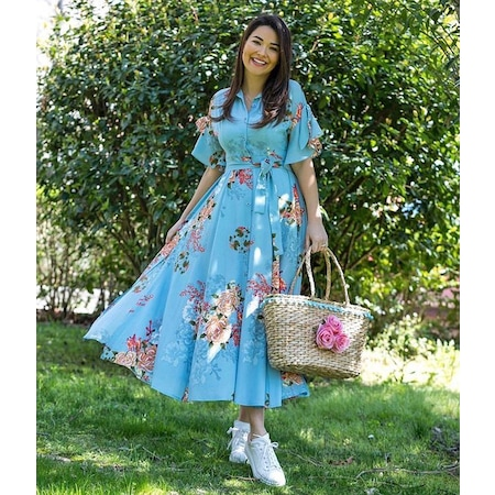 ba326469e0508 Mavi Renk 2019 Elbise & Tulum Modelleri - n11.com