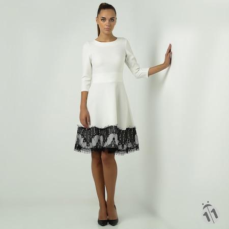 08fd3cc43c1fa Ervans - Kabarık Kloş Elbise - Abiye Elbise, İndirimli Elbise - n11.com