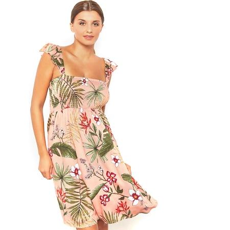 92a1b388b89b7 Only Bayan Yazlık Çiçekli Elbise 2 Renk - n11.com