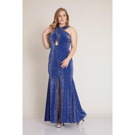24f9cbfaef1d6 Saks Mavi Elbiseler Kadın Giyim & Aksesuar - n11.com