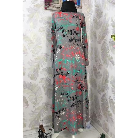 2a8cdd489dc9c Yaprak Desenli Düş 2019 Tesettür Elbise & Tunik Modelleri - n11.com