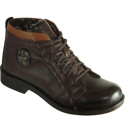 Boots 55 Rahat Hakiki Deri Kahve Erkek Bot Ayakkabı
