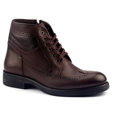 Fearful B061 %100 Deri Termal Kürklü Erkek Kışlık Bot Ayakkabı