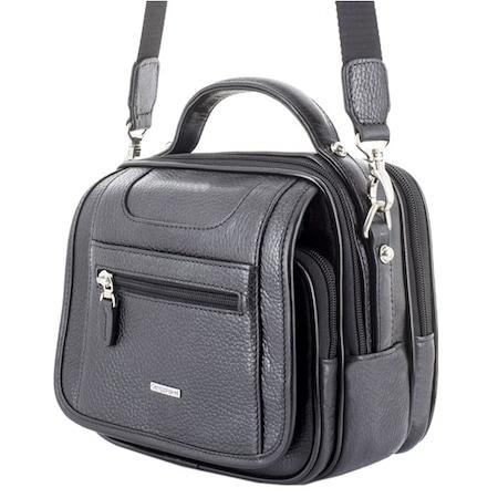 Bugün Kargo Cengiz Pakel Hakiki Deri Askılı Erkek El Omuz çantası