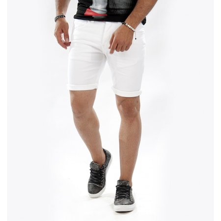 d8ab9659e909c Beyaz Şort Erkek 2019 Erkek Şort Modelleri - n11.com