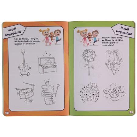 Kukuli Oyun Zamanı çıkartmalı Boyama Kitabı 4 6 Yaş Mor N11com