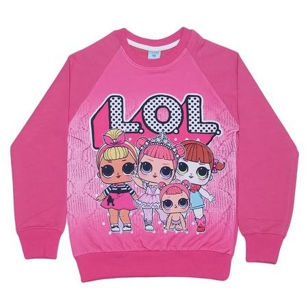 Dobakids Lol Bebekler Baskılı Sweatshirt 2 7 Yaş Pembe N11com