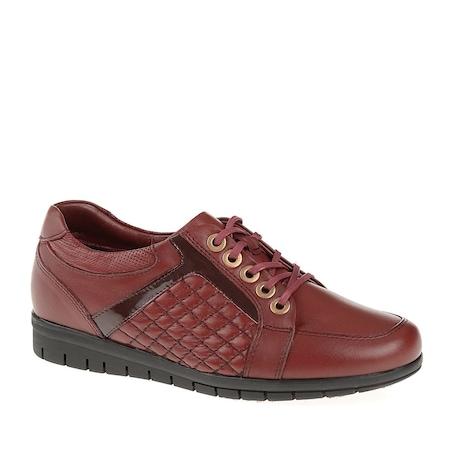 Forelli 23401G Comfort Bordo Kadın Günlük Ayakkabı