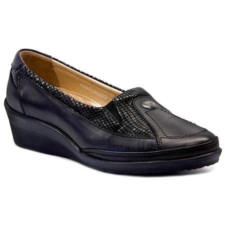 Forelli 26222 Siyah Ortopedik Kadın Ayakkabı
