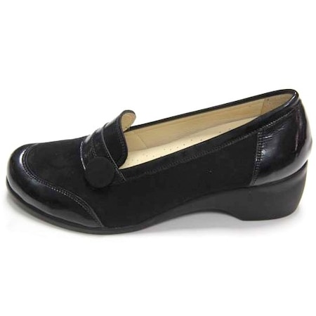Ortopedia Bayan Ayakkabı 2602 Siyah Süet 35-41