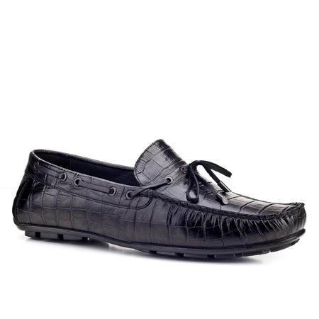 Cabani Fiyonklu Makosen Günlük Erkek Ayakkabı Siyah Deri