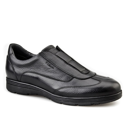 Cabani Lastikli Günlük Erkek Ayakkabı Siyah FLOTER
