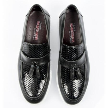 DeepSEA Yeni Sezon Petek Desenli Püsküllü Erkek Ayakkabı 1702005