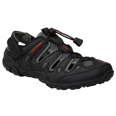 Dockers 216504 Gri-Siyah Günlük Spor Ayakkabı Terlik Sandalet