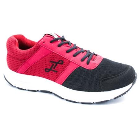 Lepons Merdane Büyük Numara Spor Ayakkabı Siyah Kırmızı