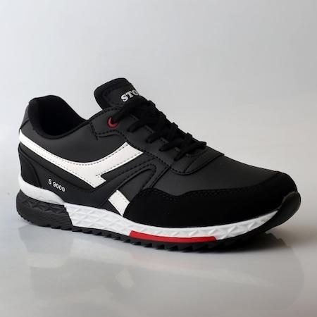 e63542086c44b Siyah Beyaz Erkek Yazlık Spor Ayakkabı - n11.com