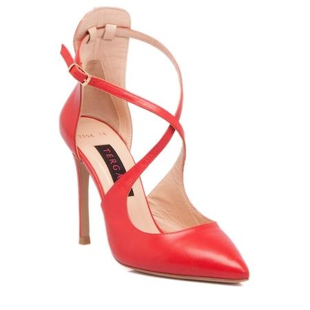 55cb77ba4ad64 Tergan Kırmızı Deri Kadın Ayakkabı -63376m2p - n11.com