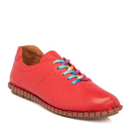 bcf66257f502d Tergan Kırmızı Deri Kadın Ayakkabı-64313a30 - n11.com