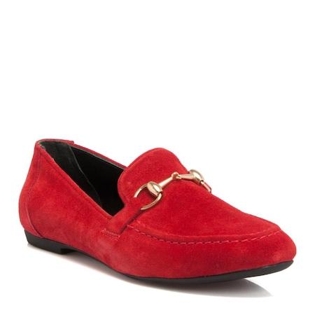 c1624ee726e23 Tergan Kırmızı Süet Deri Kadın Ayakkabı-64223b78 - n11.com