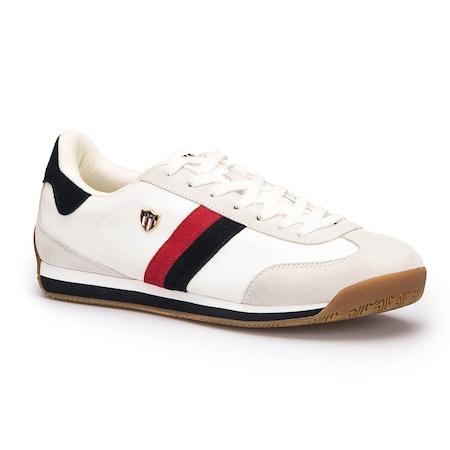U.S. Polo Assn. Boni Beyaz Lacivert Erkek Sneaker