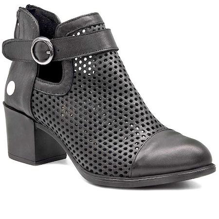 162516586a652 Matraş Deri Topuklu Ayakkabı 2019 Kadın Bot Modelleri & Fiyatları - n11.com  - 27/50