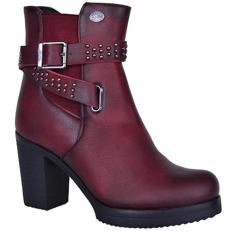 MP 172-6126 %100 Deri Topuklu Bayan Kışlık Bot Ayakkabı