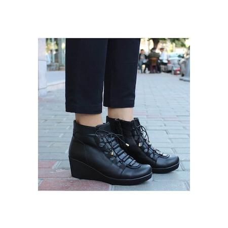 a3ac6e78e76dc Matraş Deri Topuklu Ayakkabı 2019 Kadın Bot Modelleri & Fiyatları - n11.com