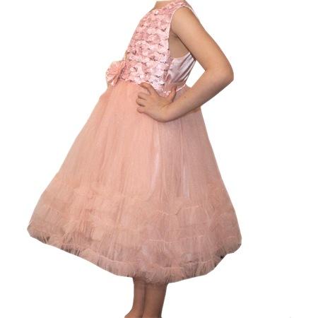70da7769a3517 Şevval 5-9 Yaş Kız Çocuk Tüllü Fırfırlı Önden Çiçekli Abiye - n11.com