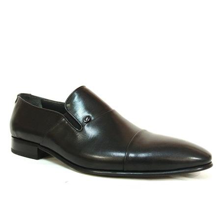 Aksin 203 Siyah Bağcıksız Erkek Ayakkabı
