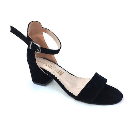 781f2652bc7e1 Eldorado Siyah Nubuk Tek Bant Alçak Topuk Kadın Ayakkabı - n11.com