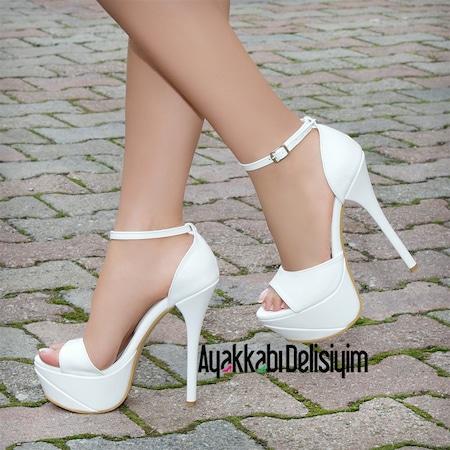 a687e513a64e8 Pudra Rengi Ayakkabı 2019 Klasik Topuklu Ayakkabı Modelleri & Fiyatları -  n11.com - 42/50