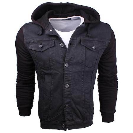 New Stil Men Fortyfour Kot Ceket Kapşonlu Siyah Erkek Slimfit N11com