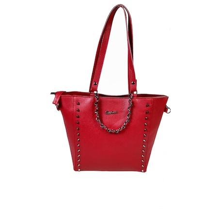 02bb9465288fa Troklu Kırmızı Kadın Kol Çanta - n11.com