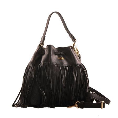 ea7884920196c Vakko Monogram Büzgülü çapraz çanta Siyah Yeni Sezon N11com